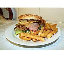Hamburger and chips. Photographic Print