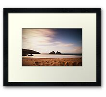 Holywell Bay, North Cornwall Framed Print
