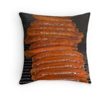 Barbecue Sausages Throw Pillow