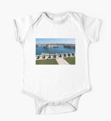 Guarding the Expensive Boats - Valletta's Grand Harbour Saluting Battery One Piece - Short Sleeve