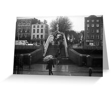 Rainy day at the Ha'Penny bridge Greeting Card