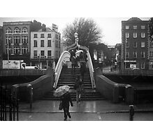 Rainy day at the Ha'Penny bridge Photographic Print