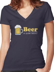 Obvious Slogan #3 Women's Fitted V-Neck T-Shirt