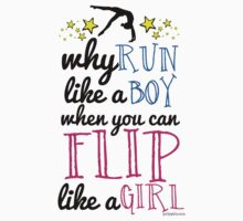 Gymnastics - Flip Like a Girl One Piece - Short Sleeve