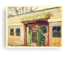 Old Scipio Garage Canvas Print
