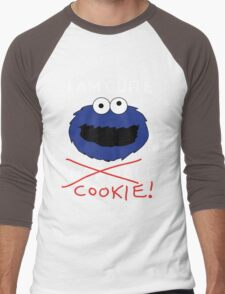 COOKIE MONSTER (WHITE TEXT) Men's Baseball ¾ T-Shirt
