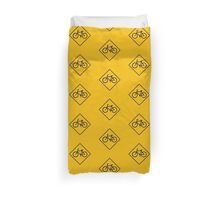 Bicycle Traffic, Traffic Warning Sign, USA Duvet Cover