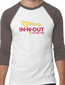 In N Out Steamed Ham Men's Baseball ¾ T-Shirt