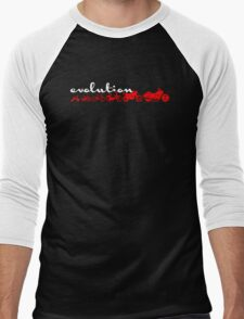 Motorcycle Evolution Men's Baseball ¾ T-Shirt