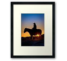 Sunrise Cowboy Framed Print
