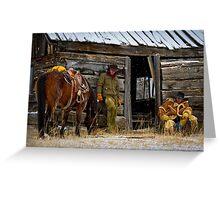 Cowboys on Break Greeting Card