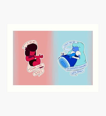 Steven Universe: Ruby and Sapphire Art Print