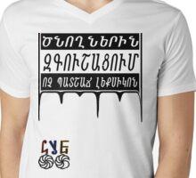 HyeOG Mens V-Neck T-Shirt
