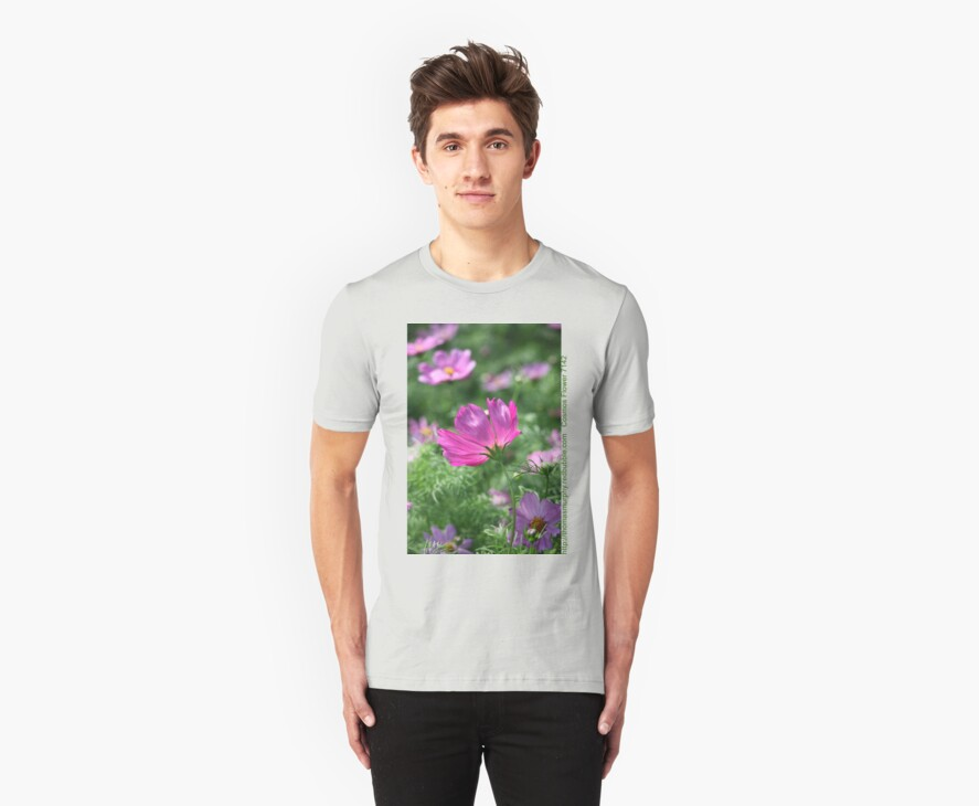 Cosmos Flower 7142 T shirt by Thomas Murphy