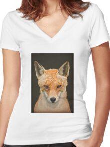 Mrs. Fox Women's Fitted V-Neck T-Shirt