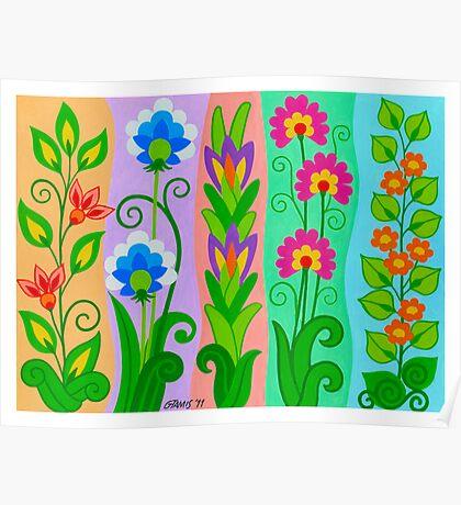 FANTASY FLOWERS 2 OF 10 - GOUACHE Poster
