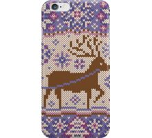 Knitted pattern reindeer  iPhone Case/Skin