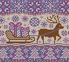 Knitted pattern reindeer  by olgart