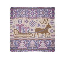Knitted pattern reindeer  Scarf