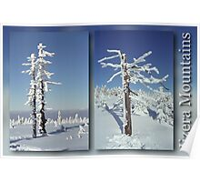 A diamond-dust day at the Smrk mountain (diptych) Poster