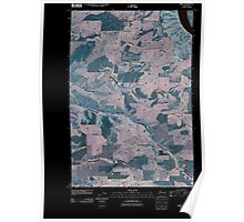USGS Topo Map Washington State WA Kirby 20110406 TM Inverted Poster