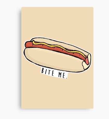 Bite Me - Hotdog Canvas Print