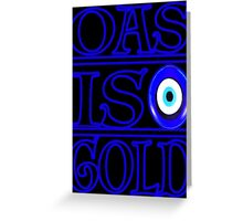 OG evil eye Greeting Card