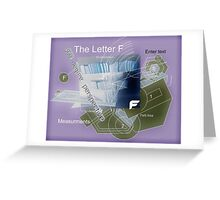 Note in the Key of F (analysis). Greeting Card