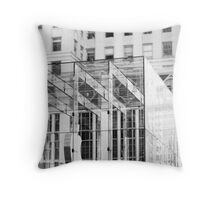 Apple in the City Throw Pillow