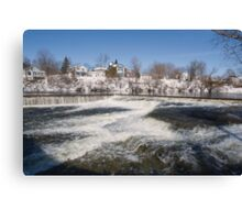 Winter water rush - Almonte, Ontario Canvas Print