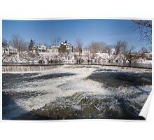 Winter water rush - Almonte, Ontario Poster