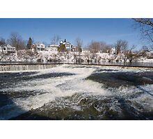 Winter water rush - Almonte, Ontario Photographic Print