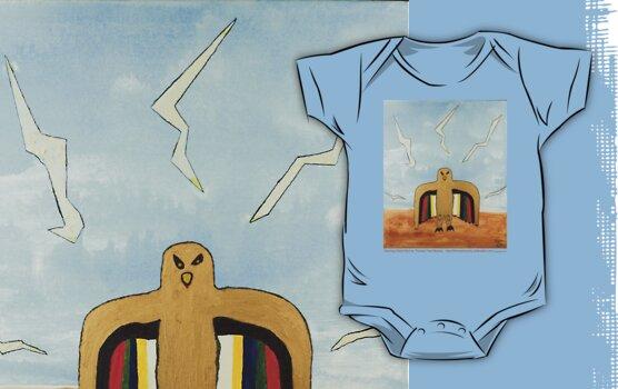Dancing Robot Bird T Shirt by Thomas Murphy