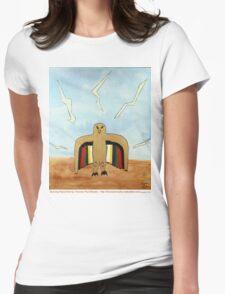 Dancing Robot Bird T Shirt Womens Fitted T-Shirt