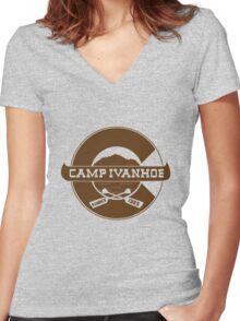 Camp Ivanhoe Shirt Women's Fitted V-Neck T-Shirt