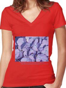 Hydrangea 7015 Women's Fitted V-Neck T-Shirt
