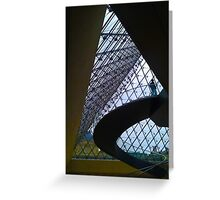 Louvre entrance Greeting Card