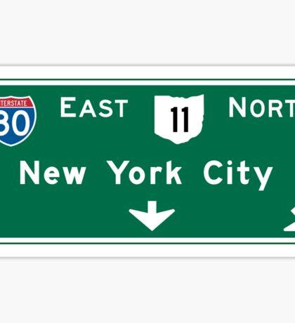 New York City Highway Sign, USA Sticker