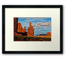 Monument Valley Politics  Framed Print