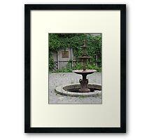 Forgotten Fountain Framed Print
