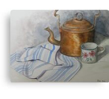Old Kettle and Cup Still life Canvas Print