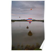 Balloons over Lake Burley Griffin Poster