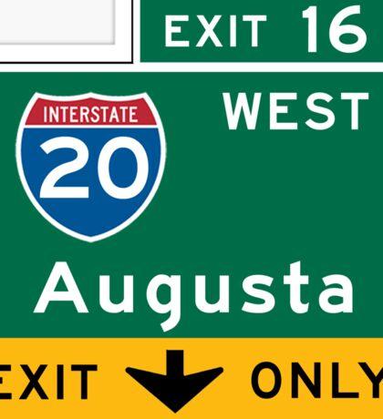 Augusta, GA Road Sign, USA Sticker