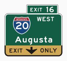 Augusta, GA Road Sign, USA One Piece - Short Sleeve