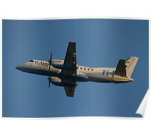Flybe.com SAAB SF.340B G-LGNJ Poster