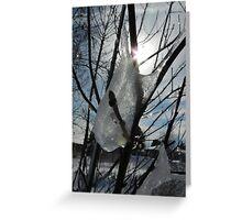 Icy tear drops Greeting Card