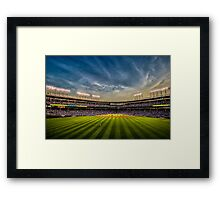 New Wrigley Field View at dusk  Framed Print