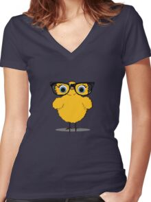 Geek Chic Chick Women's Fitted V-Neck T-Shirt