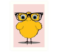 Geek Chic Chick Art Print