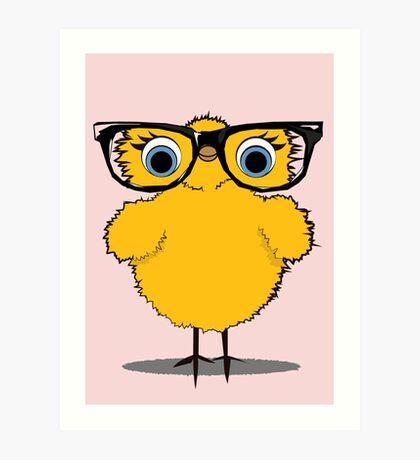 Geek Chic Chick Art Print